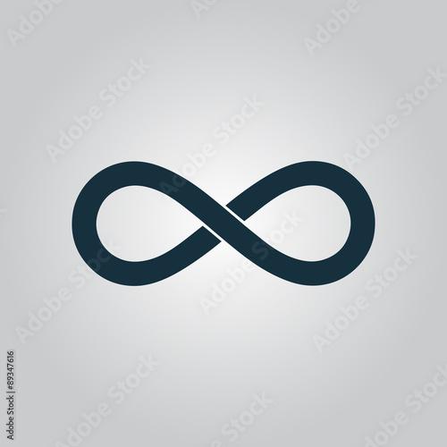 Fotografia  infinity sign vector icon