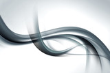 gray wave background abstract design - 89350851