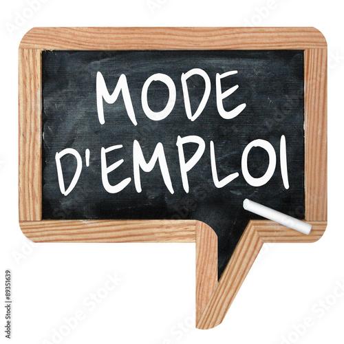 """Fotografie, Obraz  Ardoise """"Mode d'emploi"""""""