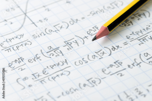 Mathematics and engineering formula Wallpaper Mural
