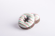 Donut. Christmas Donut On The Background