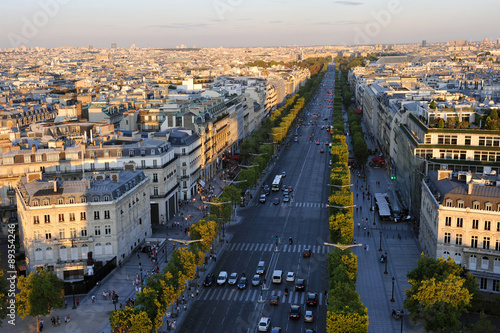 Cuadros en Lienzo Boulevard Champs Elysees