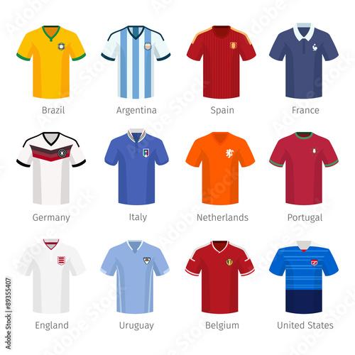 Cuadros en Lienzo Soccer uniform or football of national teams