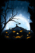 Leinwandbild Motiv Grungy Halloween Card