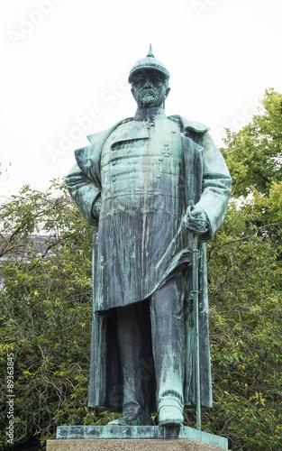 Fotomural Otto Von Bismarck sculpture, german chancellor of Prussia Reign