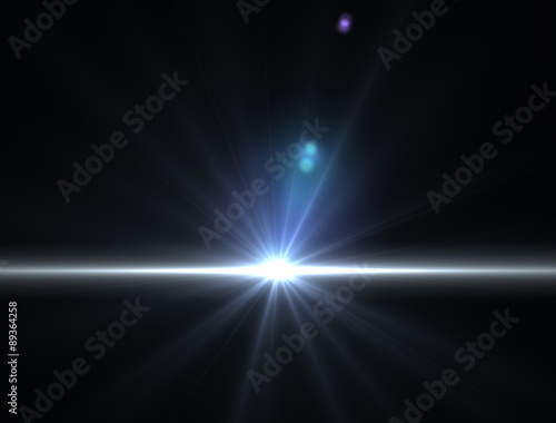 Fotografie, Obraz  Luce raggio di sole luminoso nello spazio