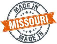 Missouri Orange Grunge Ribbon ...