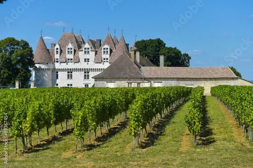 Castle Montbazillac-Vineyard of Bergerac-Dordogne-France Canvas Print