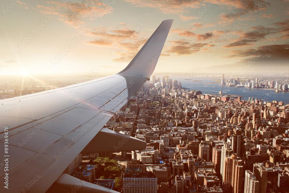 Fototapety, obrazy: Flight over New York City