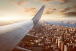 canvas print picture - Flight over New York City