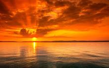 Sunset Over Lake Balaton, Hung...