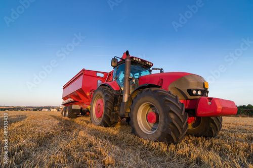 Agriculture tractor and trailer