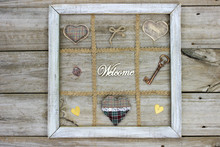 Rustic Welcome Sign With Heart...