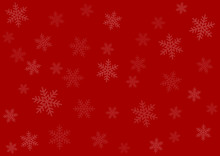 Merry Christmas Red Wrapping Paper Background With Snowflakes