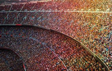 Fototapeta trybuny na stadionie piłkarskim