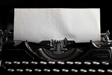 Typewriter With Paper Sheet. S...