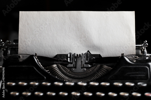 typewriter with paper sheet. Space for your text Fototapet