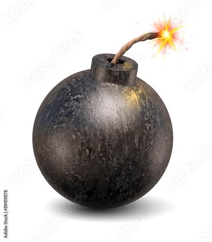 Fotografia cartoon bomb 3d illustration