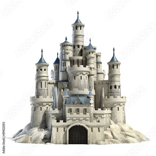 Fotografiet castle 3d illustration