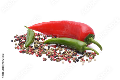 Staande foto Hot chili peppers Pepper and pepper spice