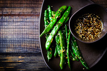 Green Beans In Sesame Asian Sa...