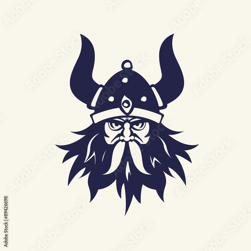 Fotografie, Obraz  Vector Illustration with ancient viking.