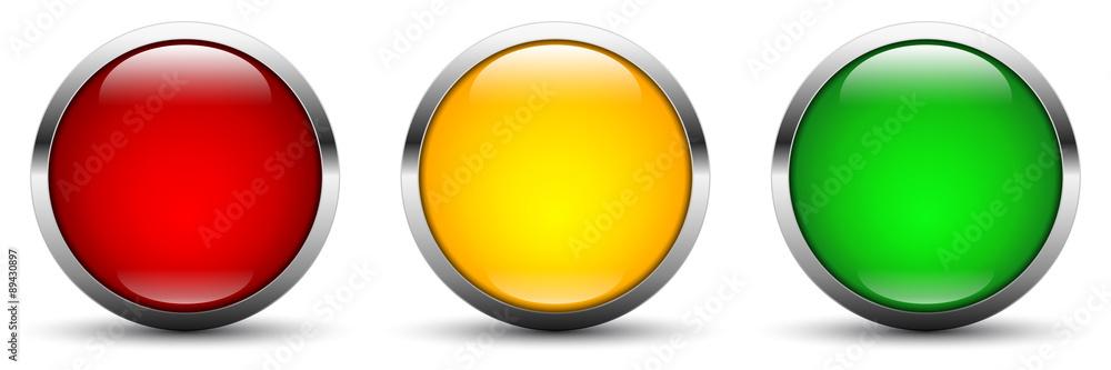 Fotografía  vector button set in traffic light colors - rating