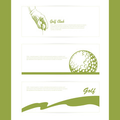 Fototapeta Sport Vector Illustration with simple set of golf poster