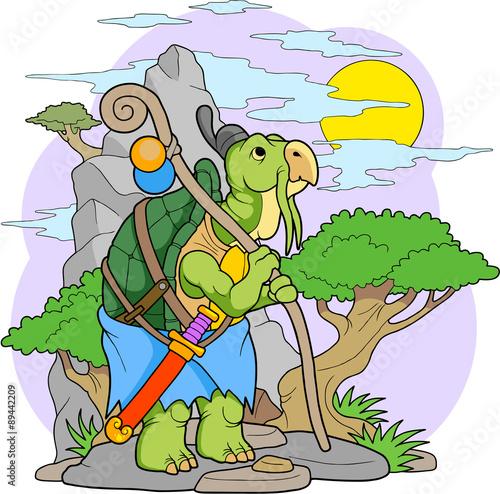 Tuinposter Dinosaurs turtle