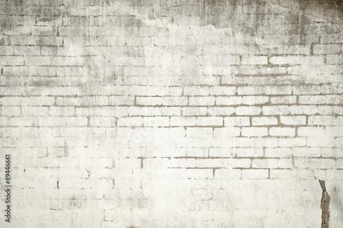Fotografie, Obraz  Muro de ladrillos con pintura sucia