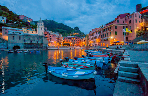 Photo  Sunset in Harbor, Vernazza, Italy