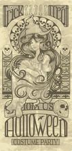 Witch Design In An Art Nouveau...