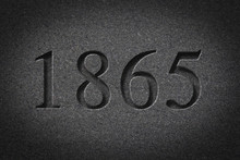 Engraved Historical Year 1865