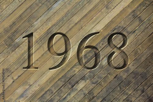 Fotografia  Engraved Historical Year 1968