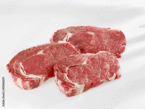 Fotografie, Obraz  Three entrecote steaks