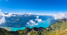 Panorama View Of Brienz Lake A...