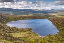 Heart Shaped Lake Ouler In Wicklow Mountains
