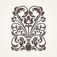 Ornamental Floral Element For ...