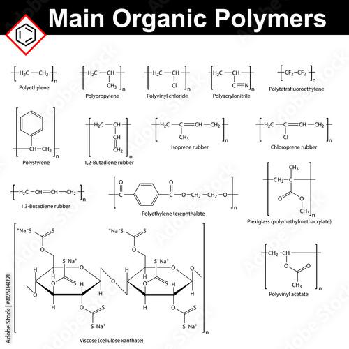 Main organic polymers Billede på lærred