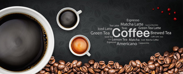 Fototapeta Kawa coffee backgrond