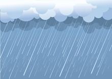 Rain.Vector Image With Dark Cl...