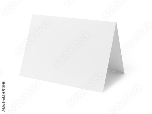Fotografía  Blank greetings card on white - Stock Image