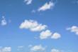Cloud in blue sky background.