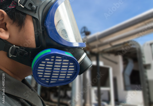 Gas mask Canvas Print
