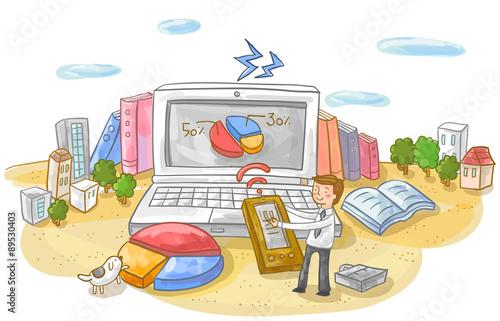 Fotografía  Illustration of business