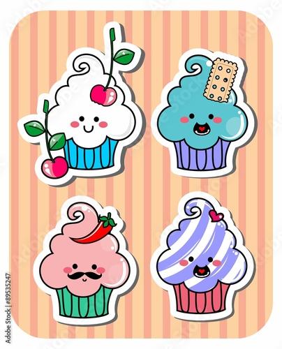 desenho cupcake adesivos set doces cupcake buy this stock