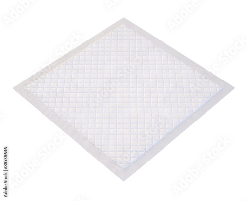 3d disposable flat bed sheet with square texture Tableau sur Toile