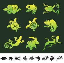 Reptile Icon Set