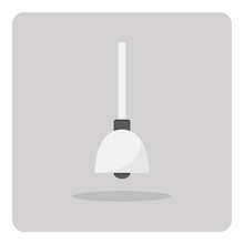 Vector Of Flat Icon, Ceiling Light On Isolated Background