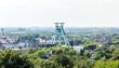 Leinwandbild Motiv Blick auf den Förderturm in Bochum | Stadtbild